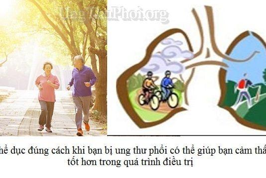 hoat dong the chat cho nguoi benh ung thu phoi