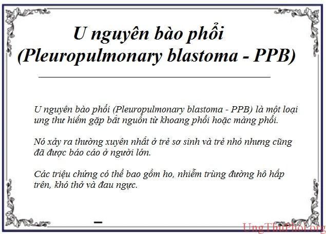 u nguyen bao phoi pleuropulmonary blastoma ppb la gi (2)