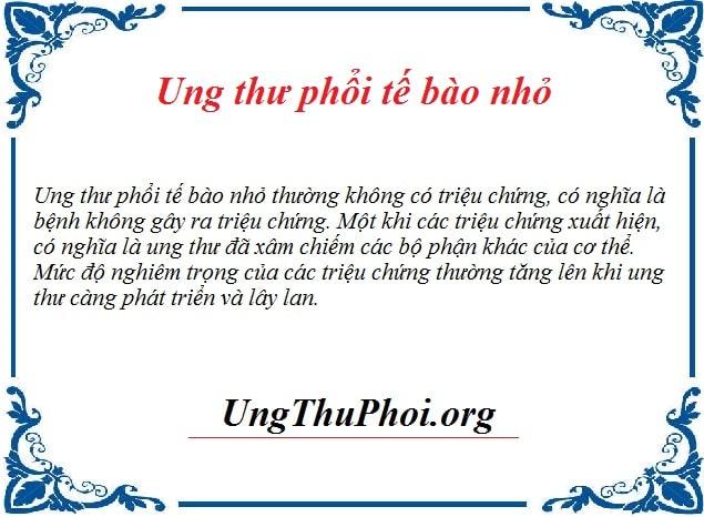 ung thu phoi te bao nho la gi Nguyen nhan trieu chung benh ra sao (2)