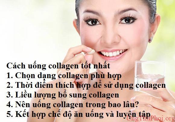 Cách uống collagen tốt nhất