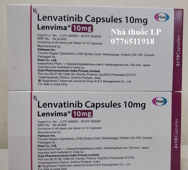 Thuốc Lenvima 10mg Lenvatinib điều trị ung thư gan, tuyến giáp (4)