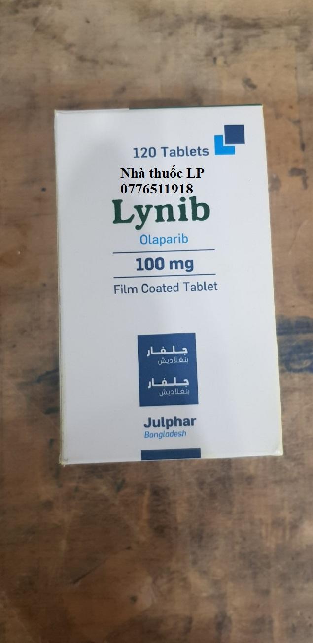 Thuốc Lynib 100mg Olaparib điều trị ung thư buồng trứng (1)