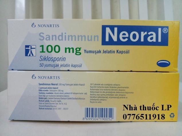 Thuốc Neoral 25mg và 100mg Ciclosporin chống thải ghép tạng (4)