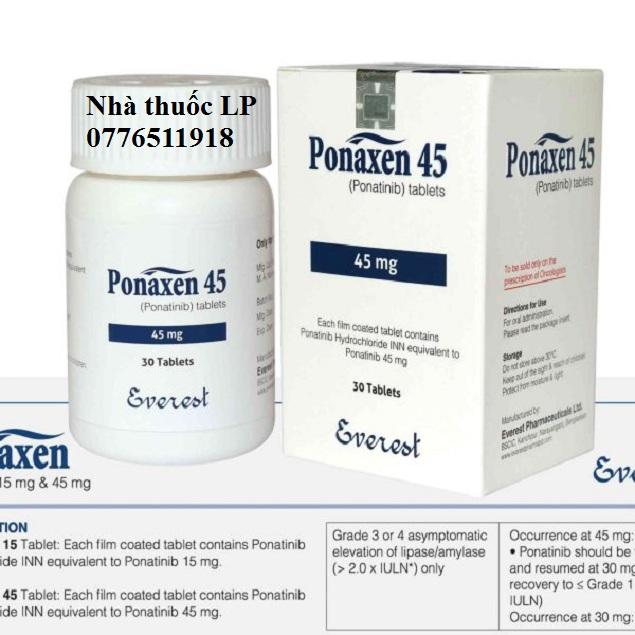 Thuốc Ponaxen 15mg & 45mg Ponatinib điều trị ung thư bạch cầu (4)