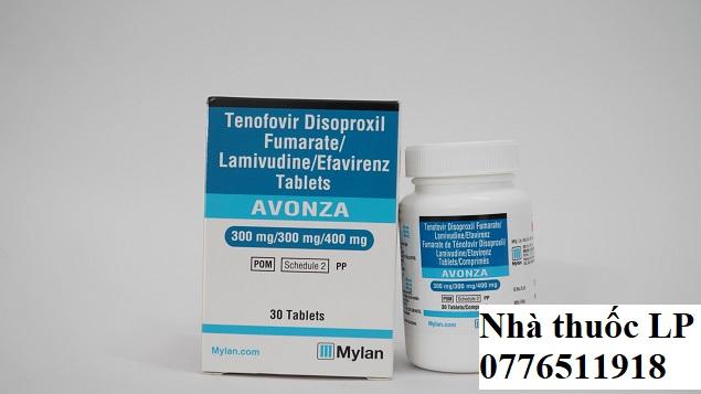 Thuốc Avonza 300mg/300mg/400mg Tenofovir, Lamivudine, Efavirenz điều trị nhiễm HIV (2)