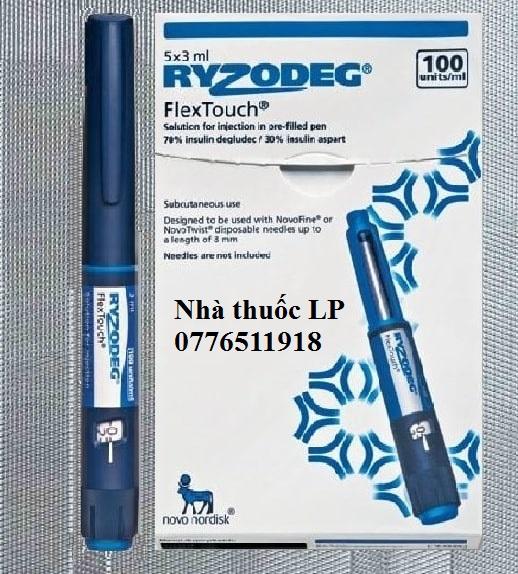 Thuốc Ryzodeg 100u/ml Insulin điều trị bệnh bệnh tiểu đường (2)