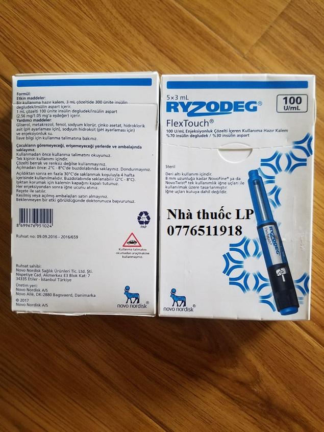 Thuốc Ryzodeg 100u/ml Insulin điều trị bệnh bệnh tiểu đường (3)