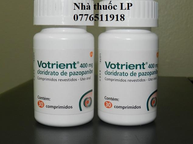 Thuốc Votrient 400mg Pazopanib điều trị ung thư thận (1)
