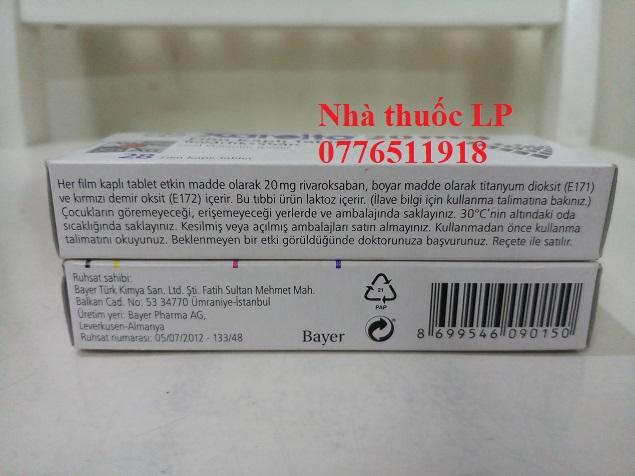 Thuốc Xarelto 20mg Rivaroxaban chống đột quỵ chống đông máu (3)