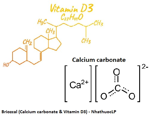 Briozcal (Calcium carbonate & Vitamin D3) - NhathuocLP