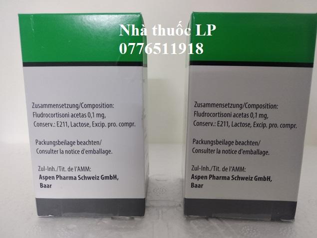 Thuốc Florinef 0.1mg Fludrocortison acetate điều trị bệnh Addison và hội chứng adrenogenital (3)