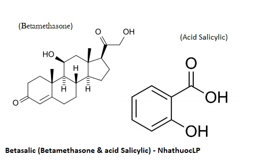 Betasalic (Betamethasone & acid Salicylic) - NhathuocLP