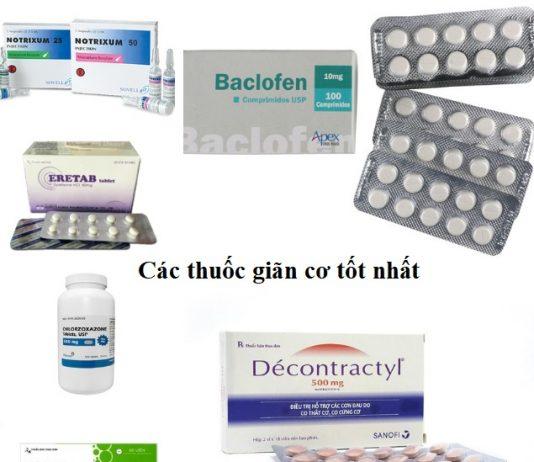 Tổng hợp các thuốc trong nhóm thuốc giãn cơ tốt nhất