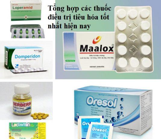 Tổng hợp các thuốc điều trị tiêu hóa tốt nhất hiện nay