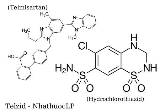 Telzid (Telmisartan & Hydrochlorothiazid) - NhathuocLP