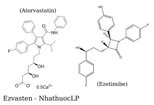 Ezvasten (Atorvastatin & Ezetimibe) - NhathuocLP
