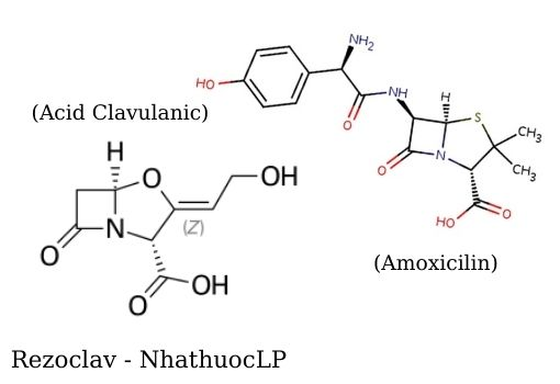 Rezoclav (Amoxicillin & acid Clavulanic) - NhathuocLP