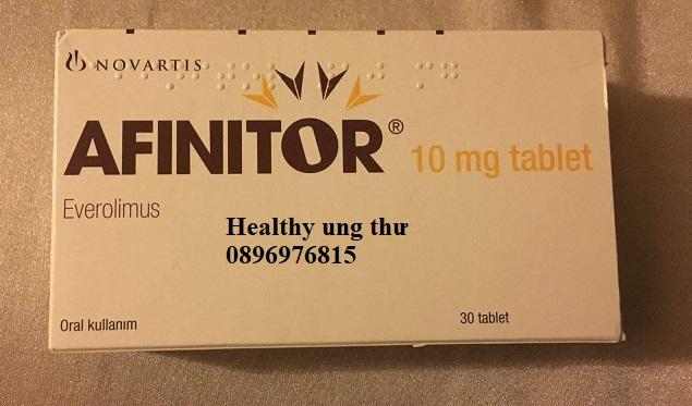 Thuốc Afinitor 10mg Everolimus điều trị ung thư vú, tuyến tụy và u não