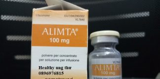 Thuốc Alimta 100mg Pemetrexed điều trị ung thư phổi
