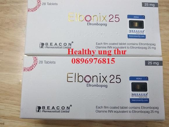 Thuốc Elbonix 25mg Eltrombopag điều trị giảm tiểu cầu miễn dịch mãn tính (ITP)