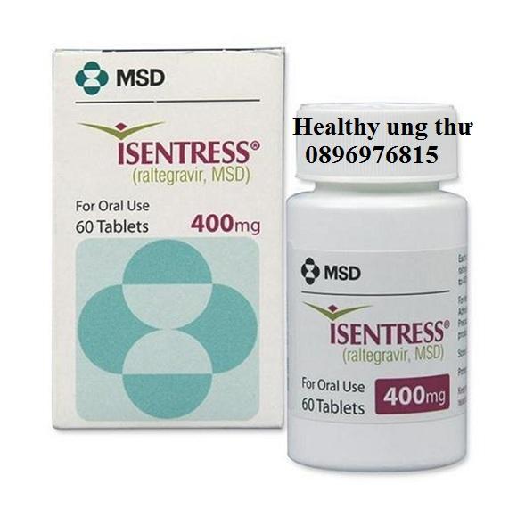 Thuốc Isentress 400mg Raltegravir điều trị HIV